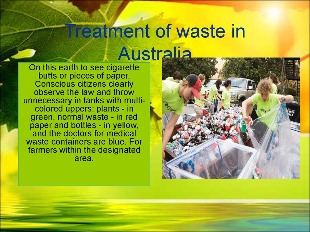 Treatment of waste in Australia