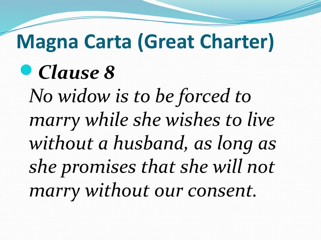 Magna Carta (Great Charter)