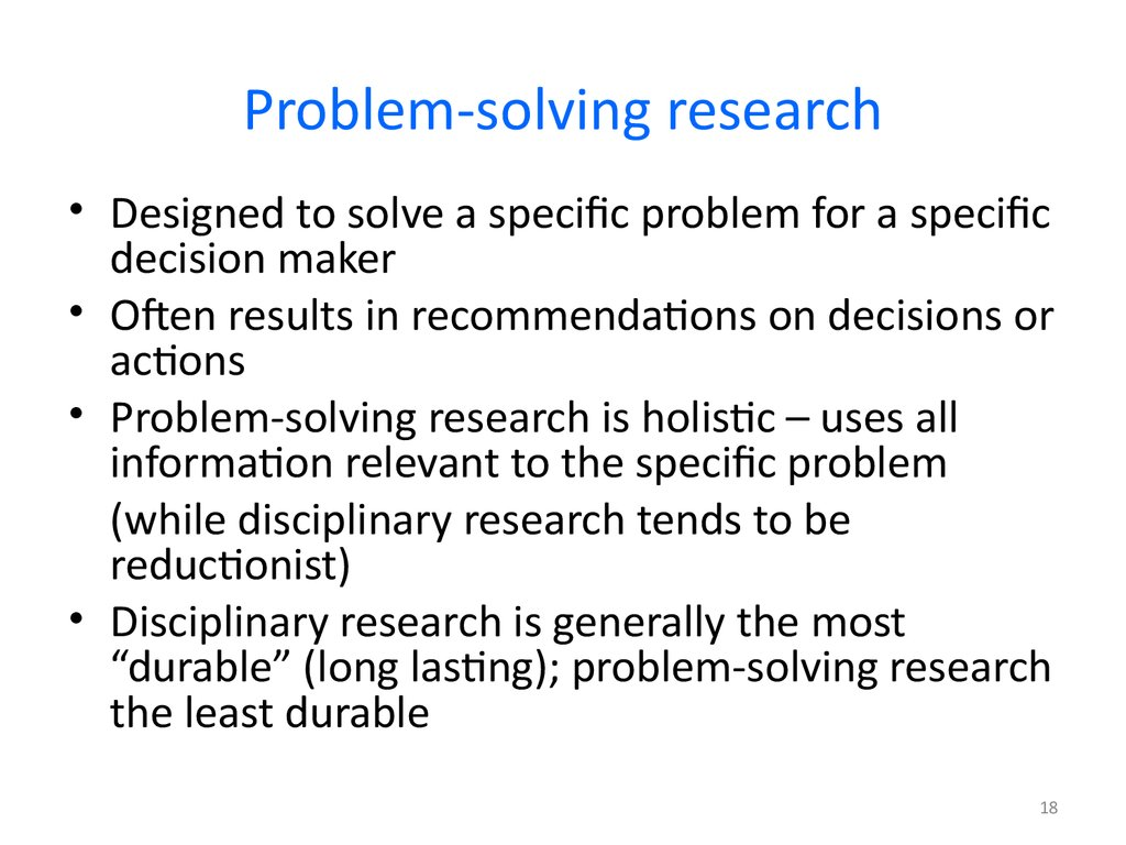 Problem-solving research