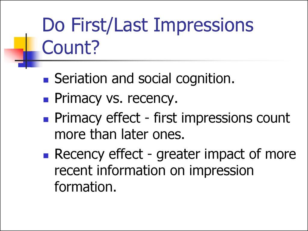 primacy effect example