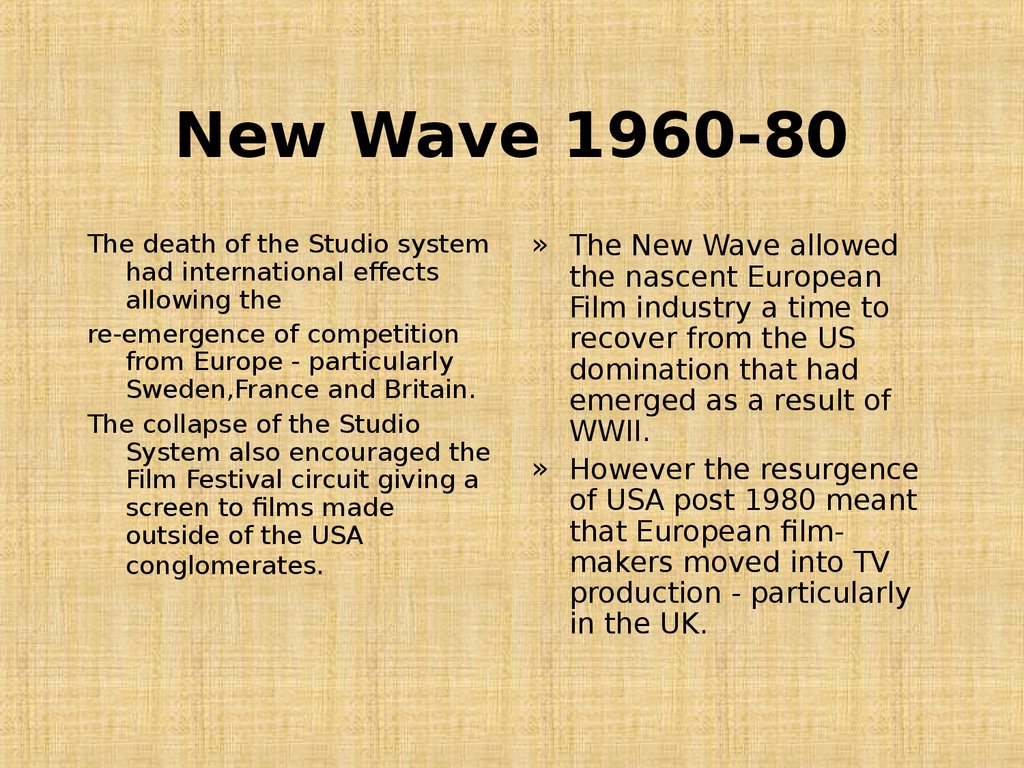 New Wave 1960-80