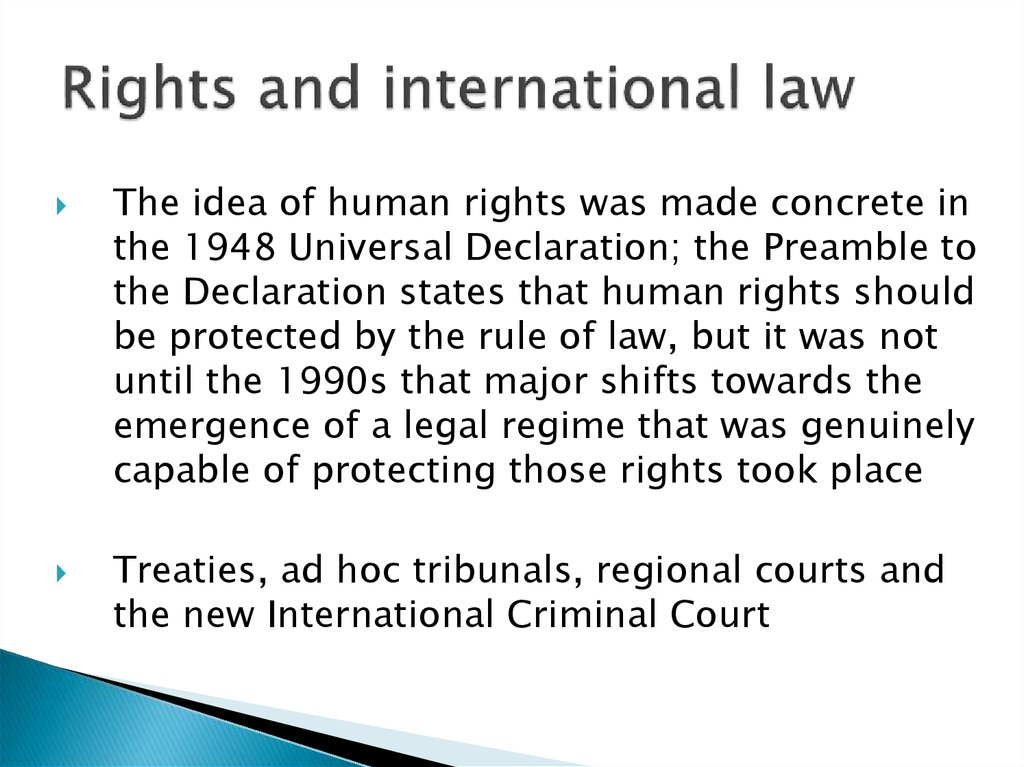 Rights and international law