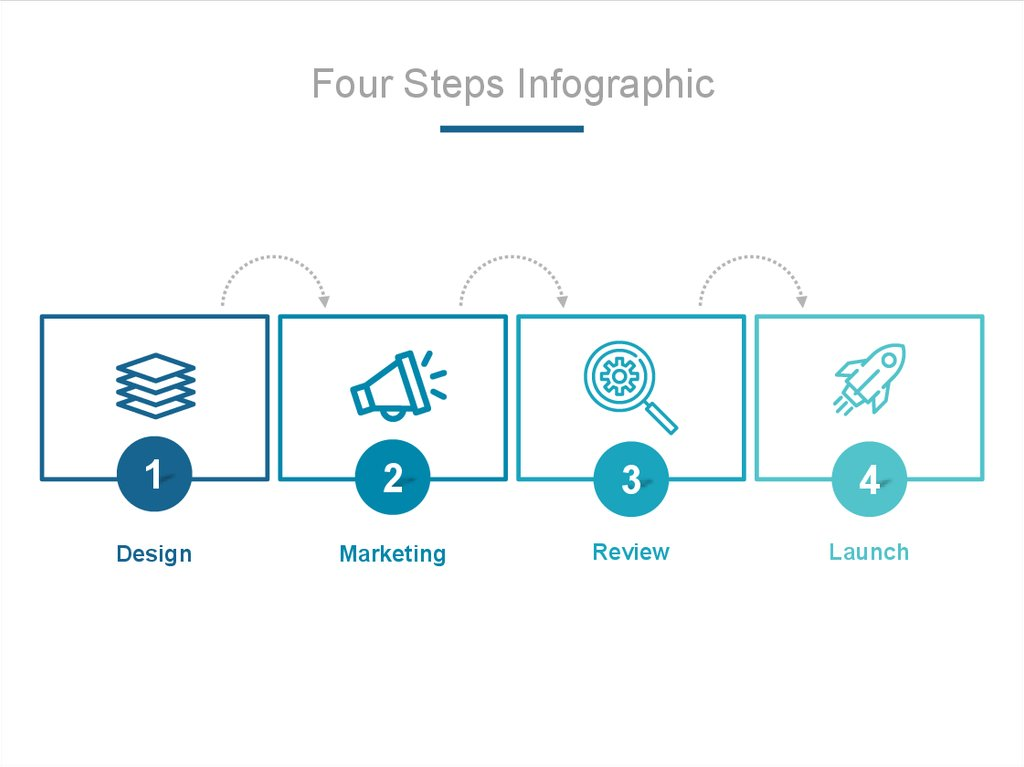 Four Steps Infographic