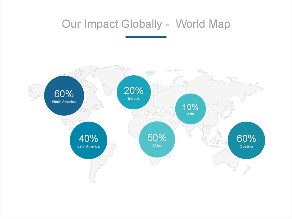 Our Impact Globally - World Map