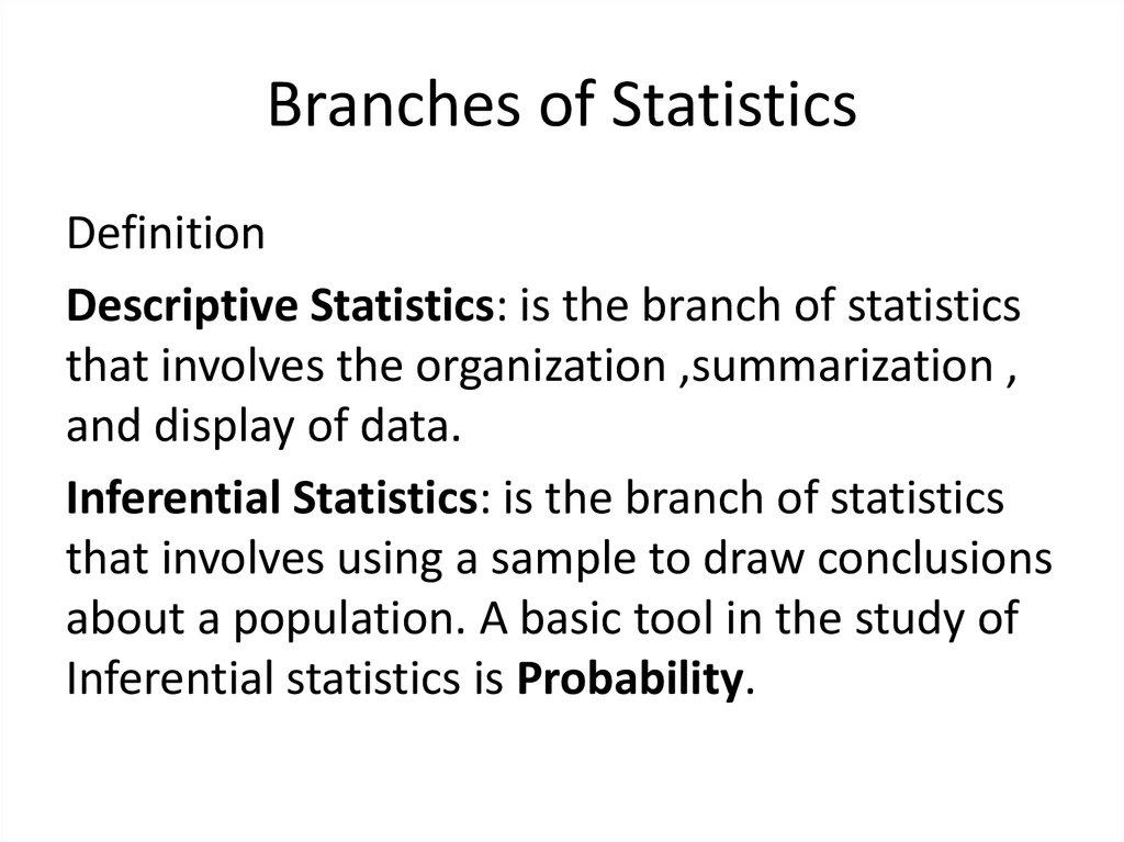 An over view of statistics - презентация онлайн