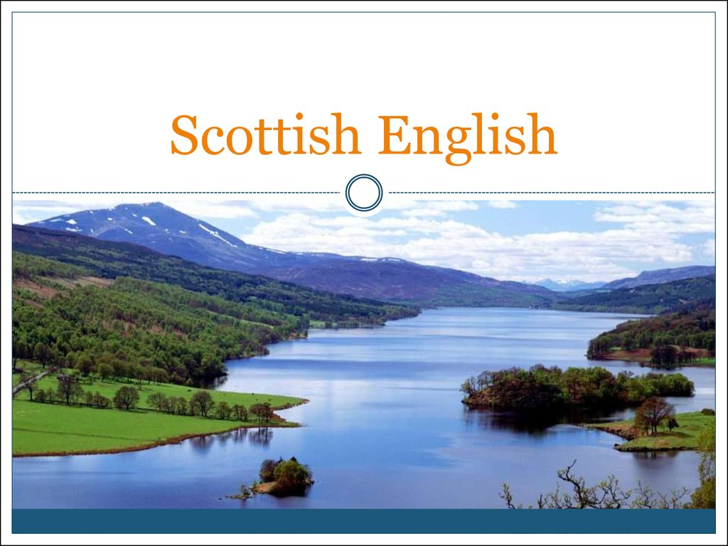 Scottish English