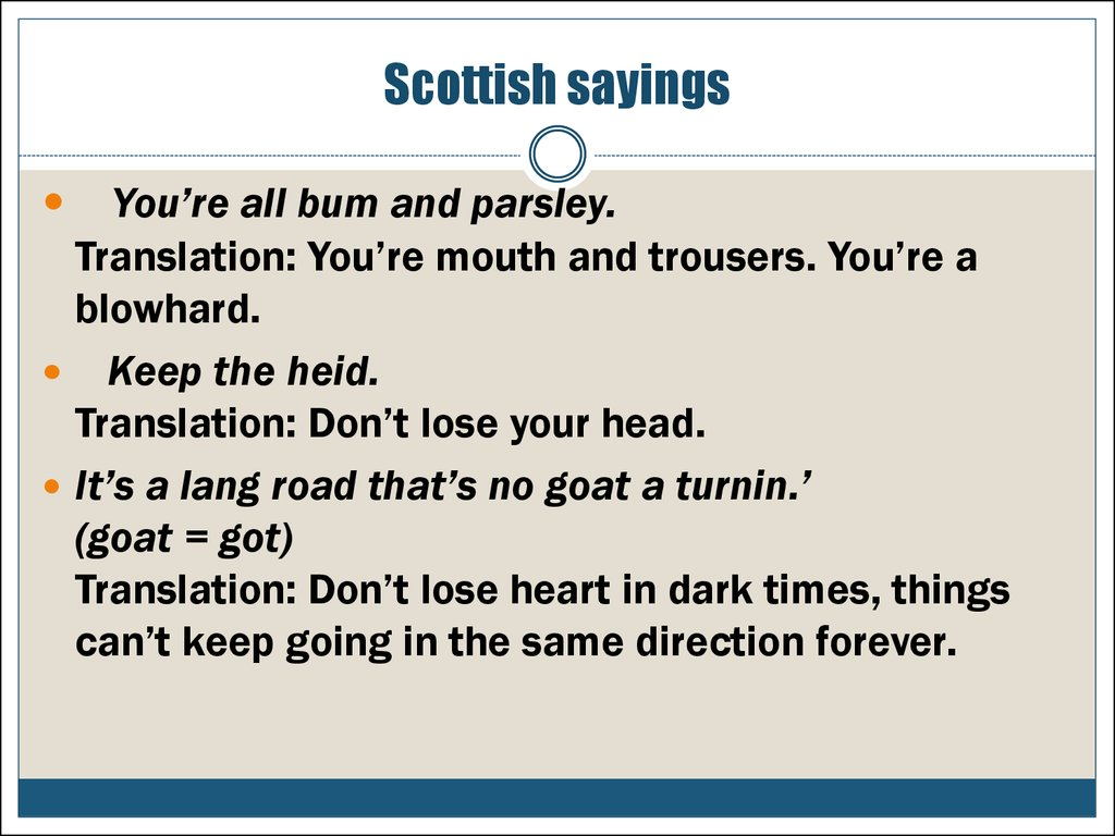 Scottish sayings