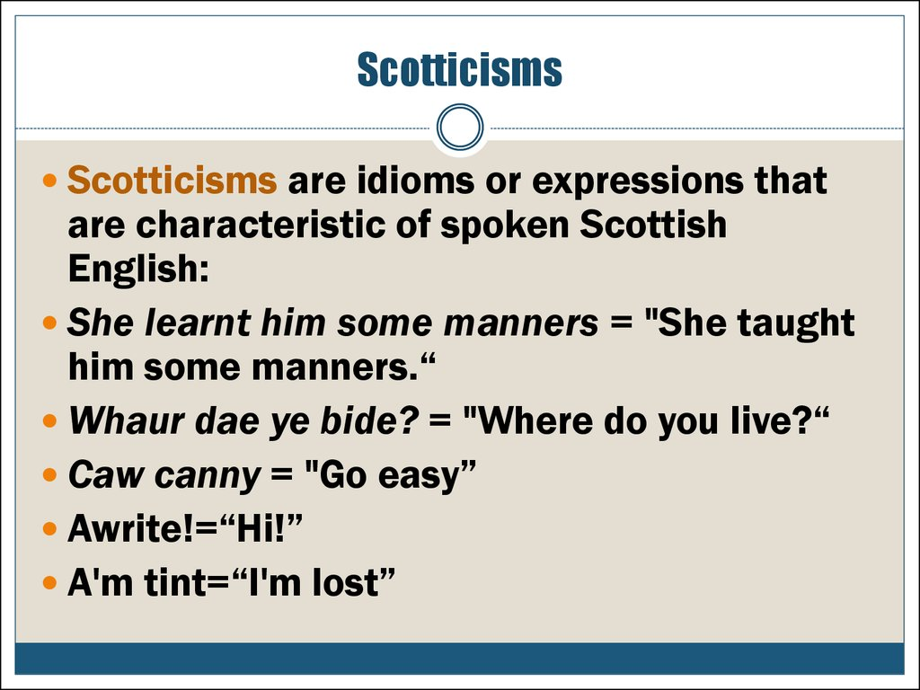 Scotticisms