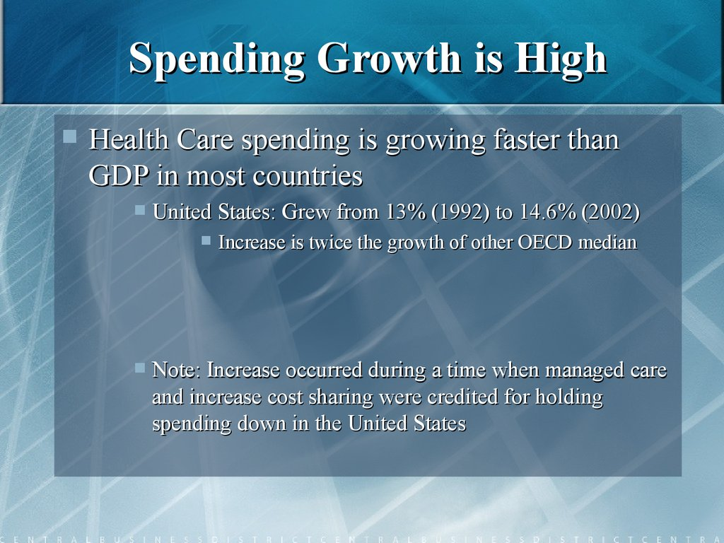 Spending Growth is High