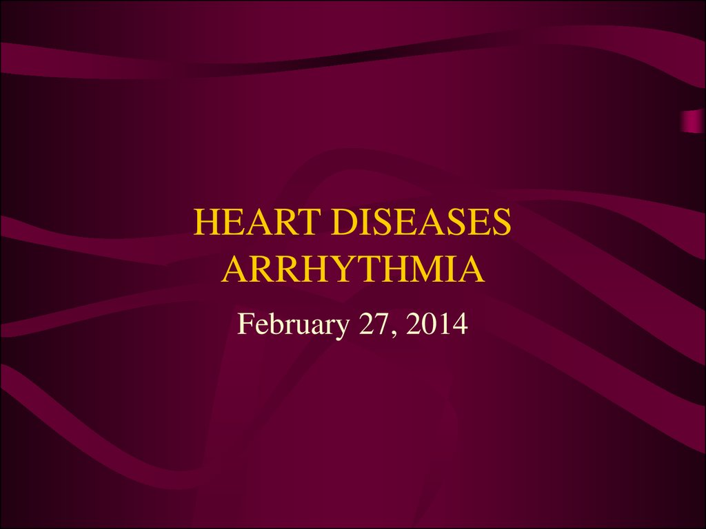 HEART DISEASES ARRHYTHMIA