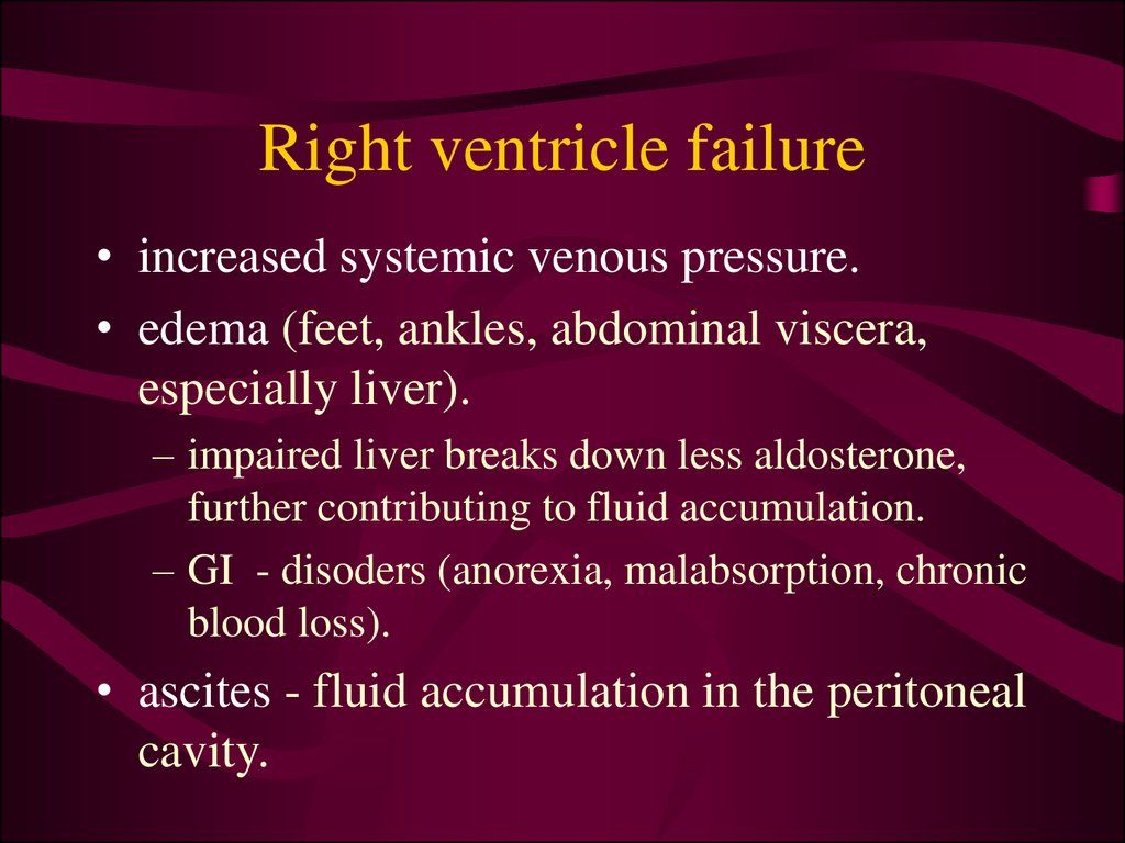 Right ventricle failure
