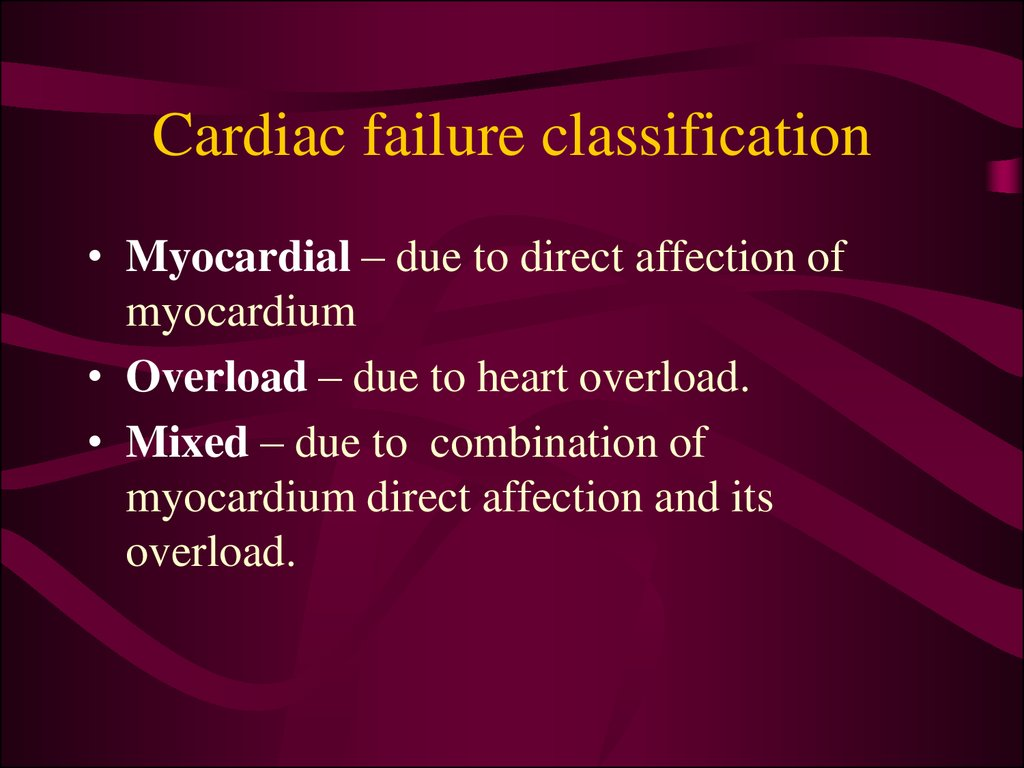 Cardiac failure classification
