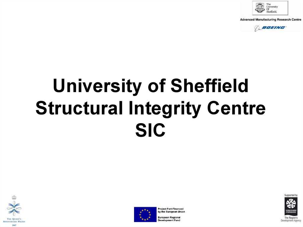 University of Sheffield Structural Integrity Centre SIC