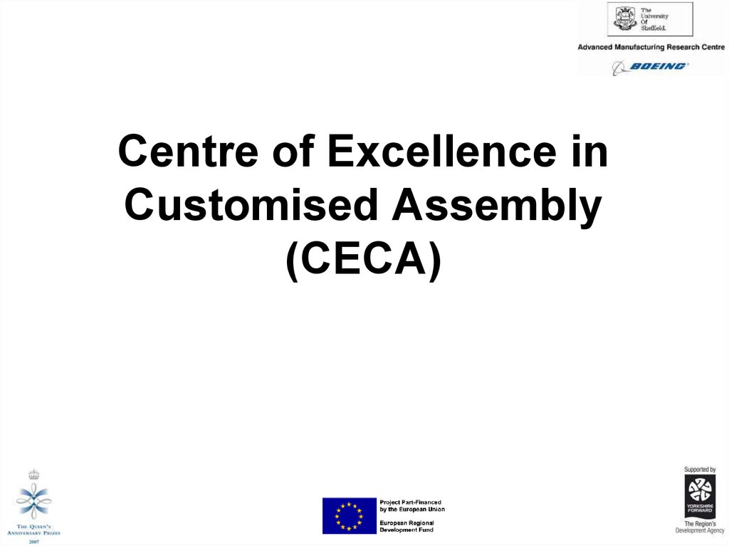 Centre of Excellence in Customised Assembly (CECA)
