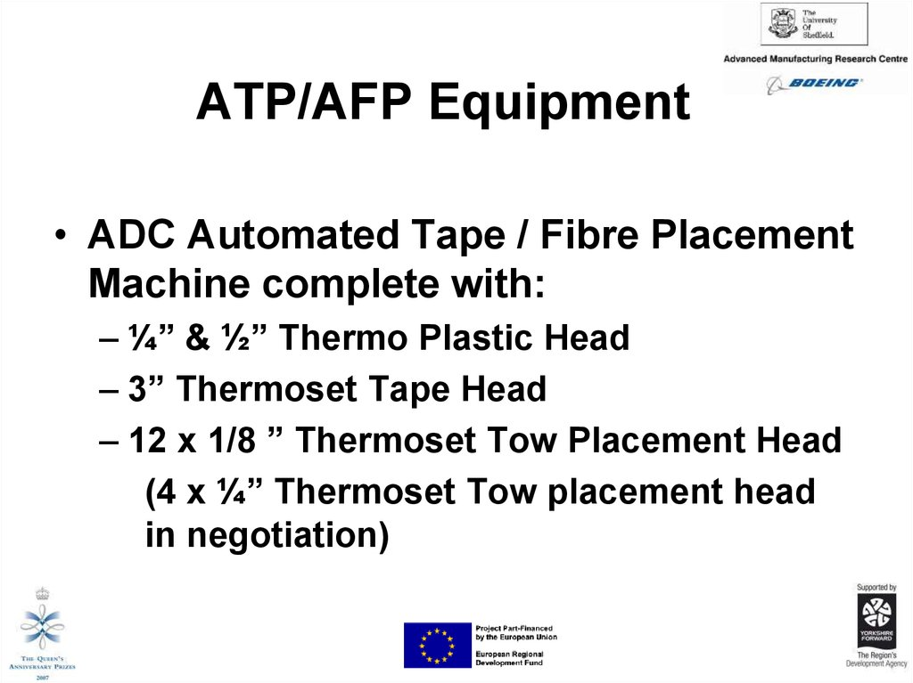 ATP/AFP Equipment