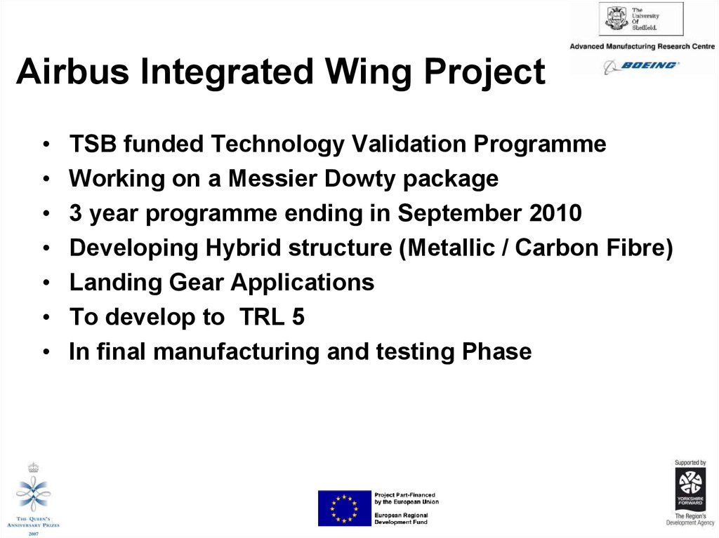 Airbus Integrated Wing Project