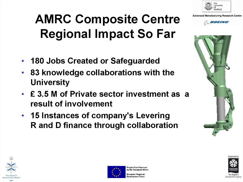 AMRC Composite Centre Regional Impact So Far