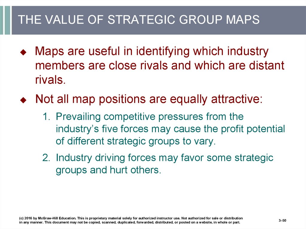 THE VALUE OF STRATEGIC GROUP MAPS