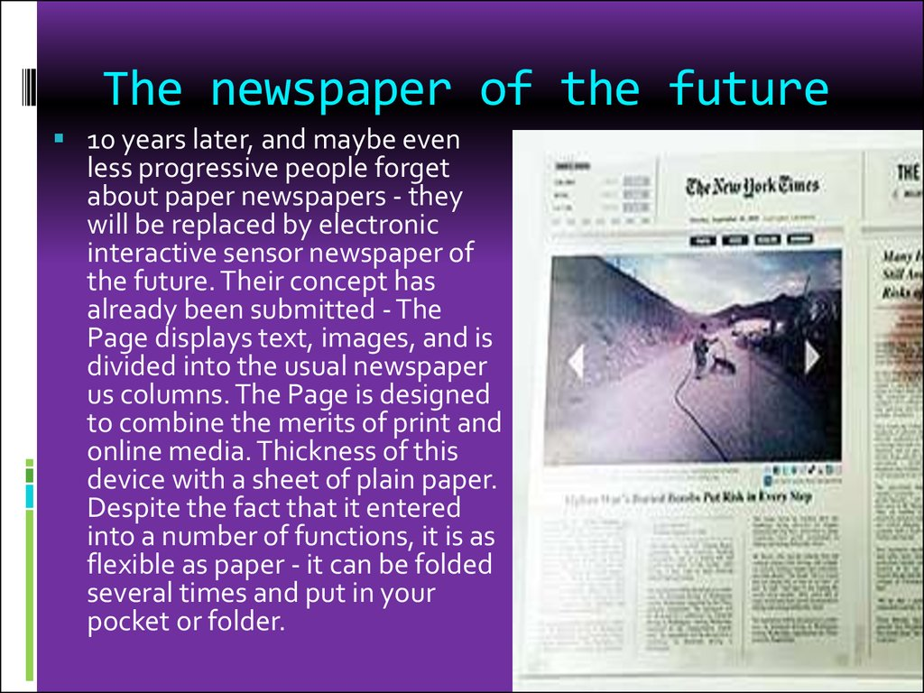 The newspaper of the future