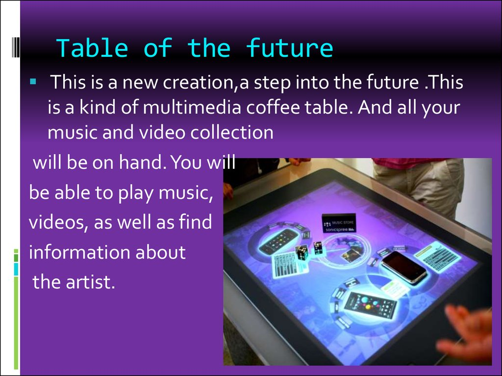 Table of the future