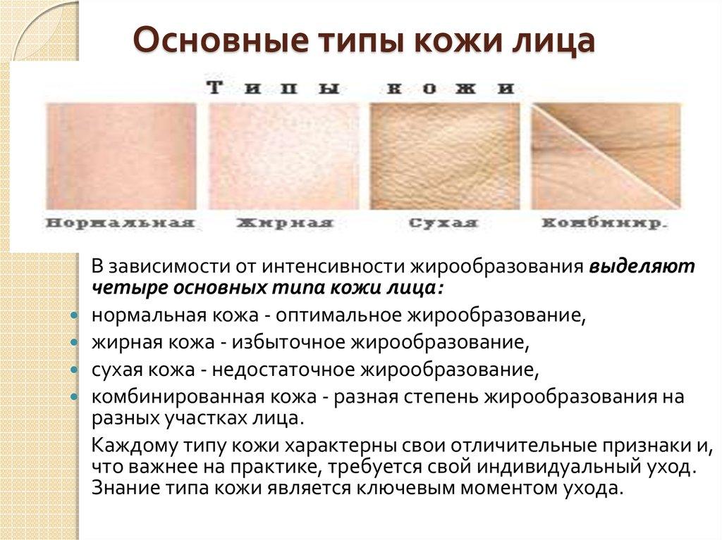 Характеристики сухой кожи лица
