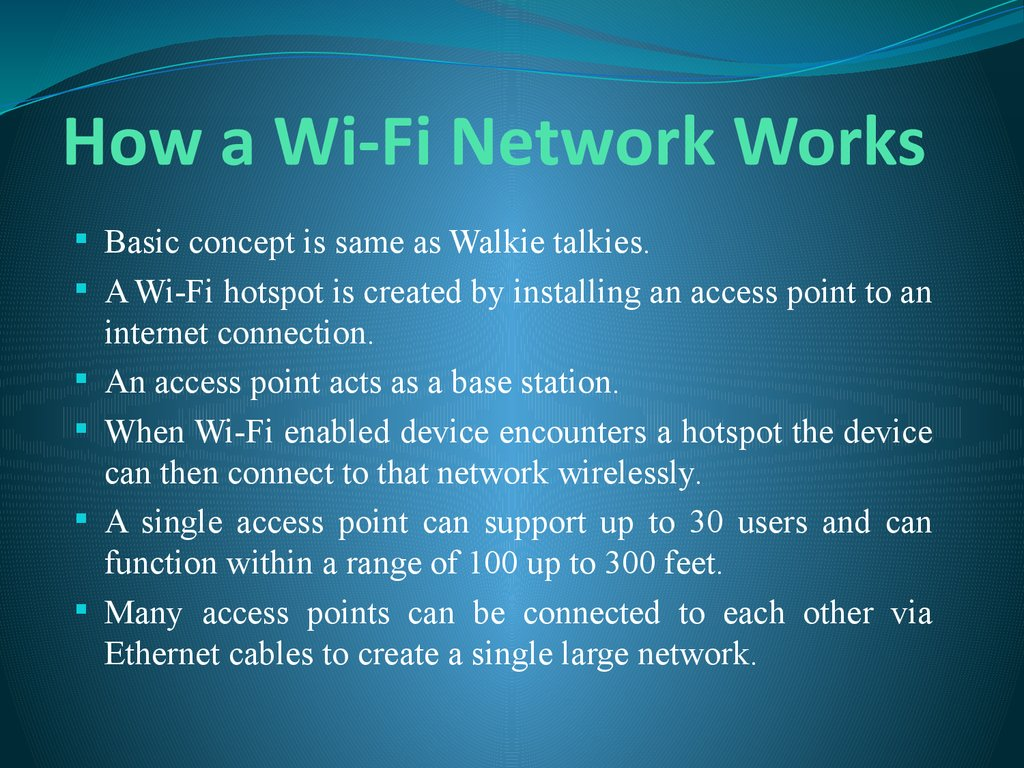 How a Wi-Fi Network Works