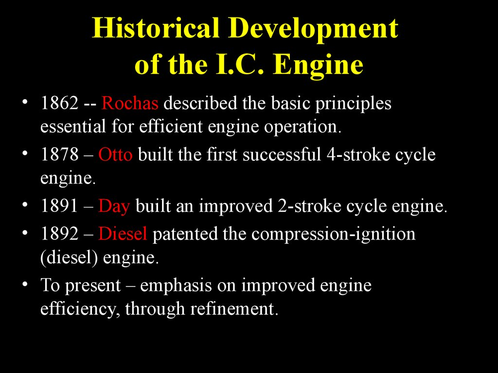 Engine Components And Operation Online Presentation 4 Cycle Diagram Historical Development Of The Ic