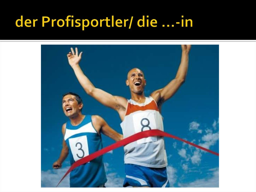 der Profisportler/ die …-in