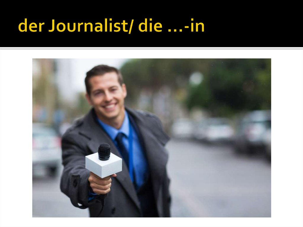 der Journalist/ die …-in