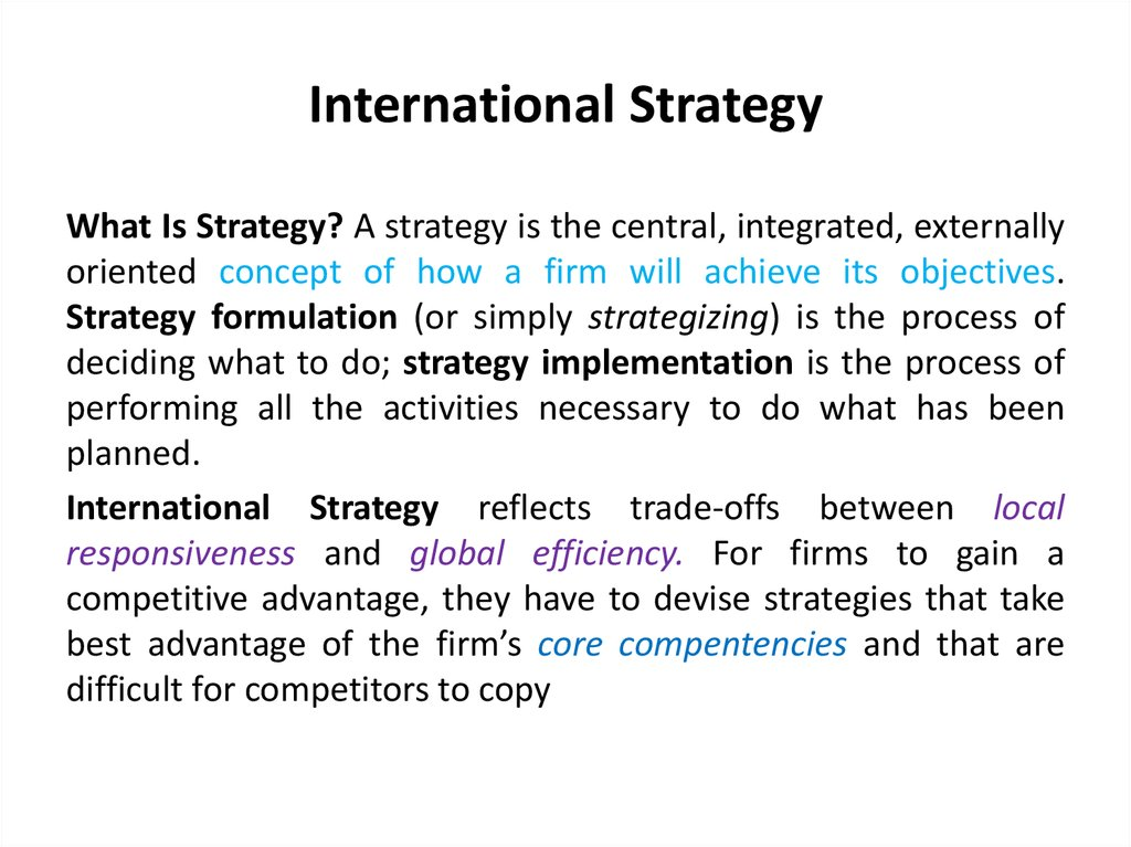 international strategic management The 8th international strategic management conference will be held in barcelona, spain, between the dates of june 21-23, 2012 the conference is organized.