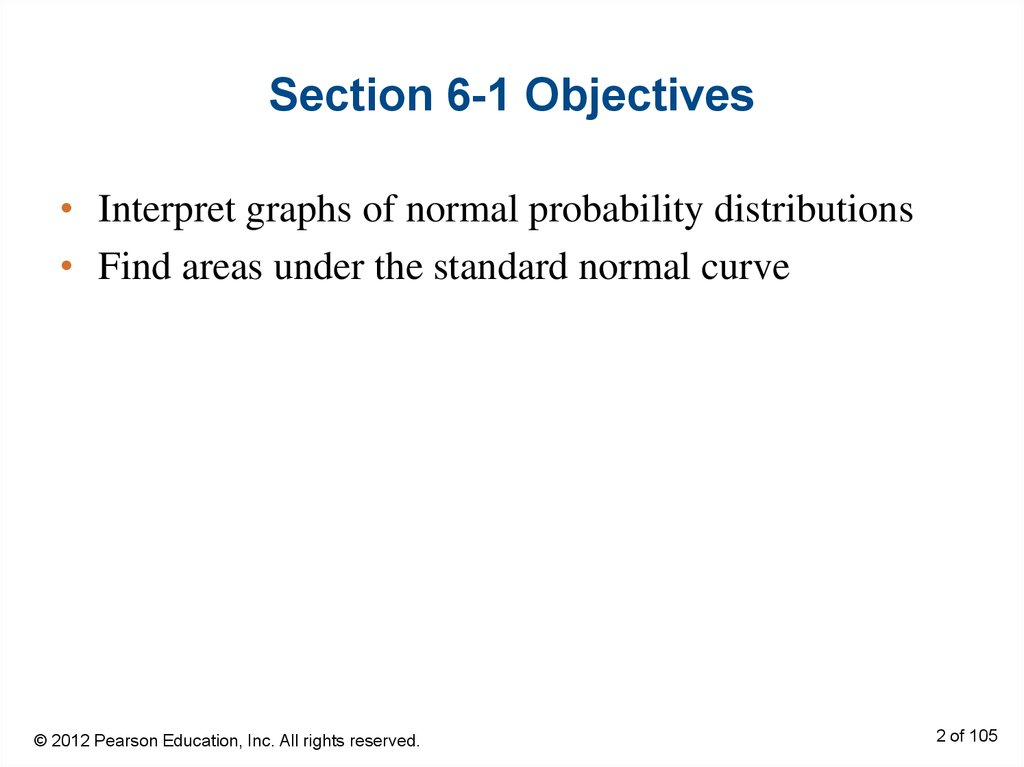 Section 6-1 Objectives