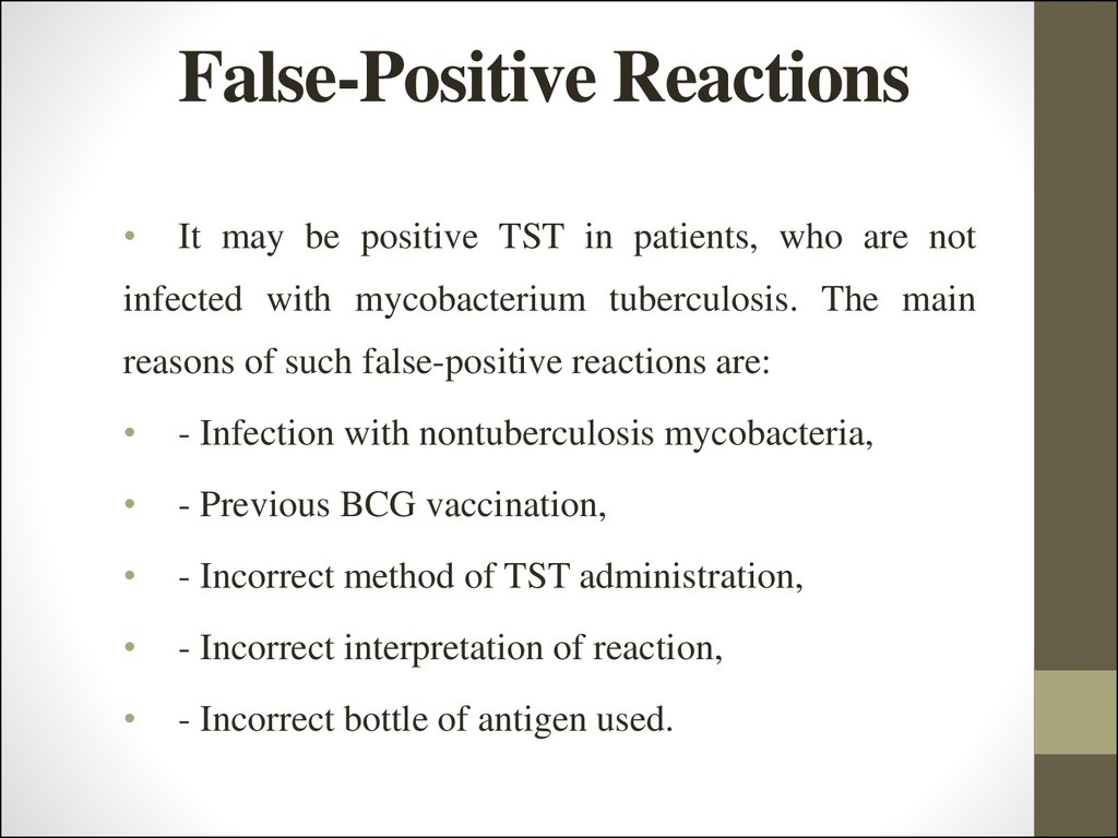 False-Positive Reactions