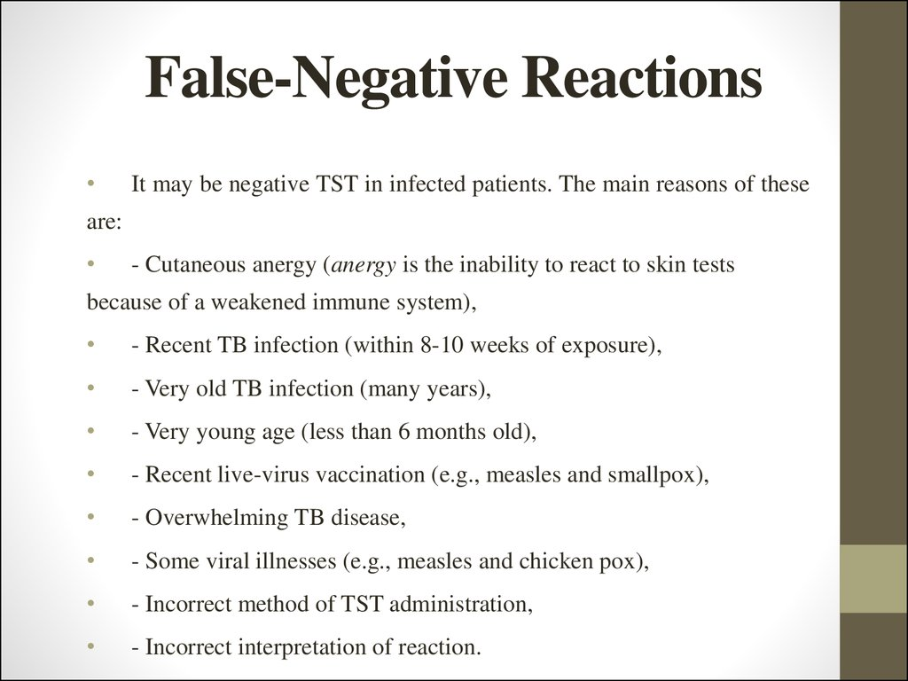 False-Negative Reactions