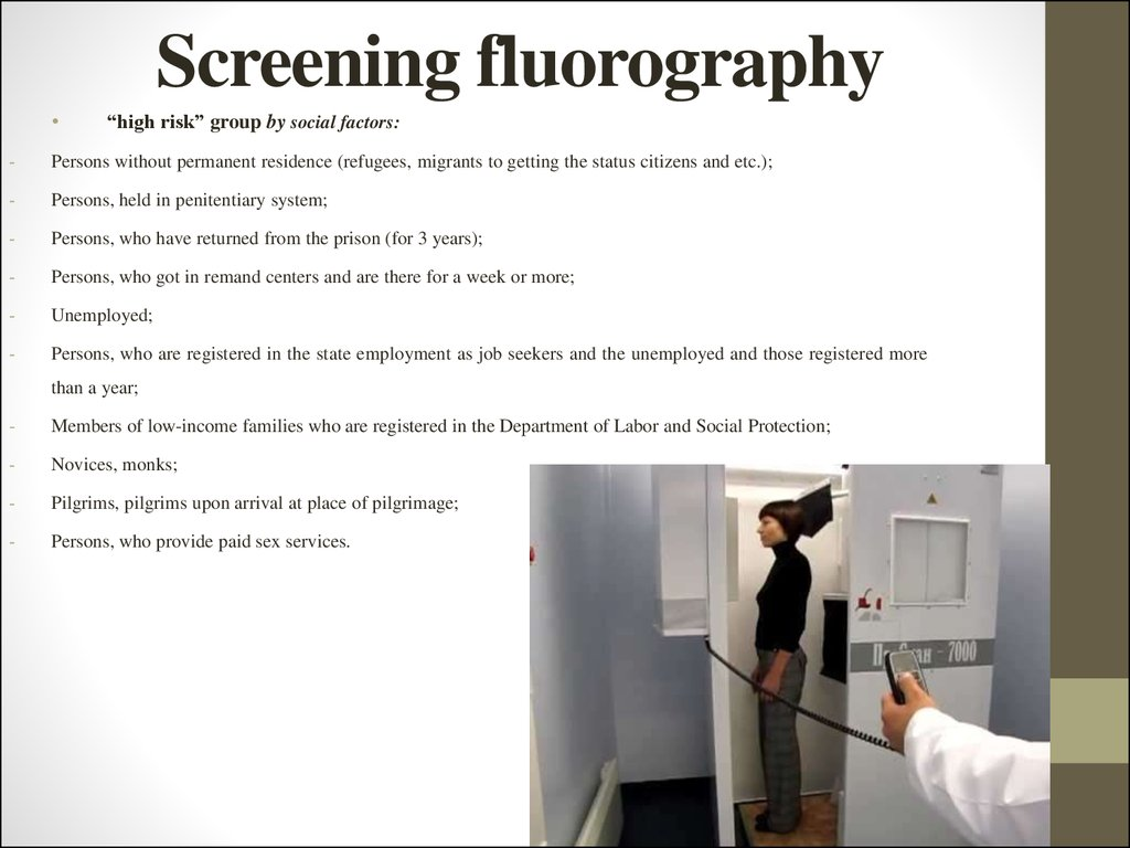 Screening fluorography