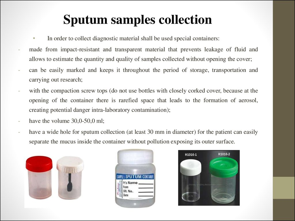 Sputum samples collection
