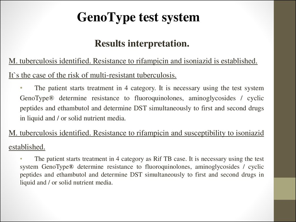 GenoType test system