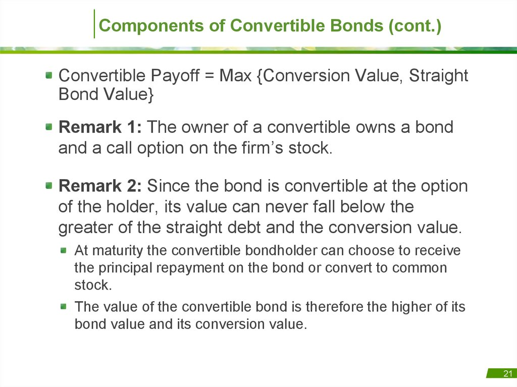 bond and value