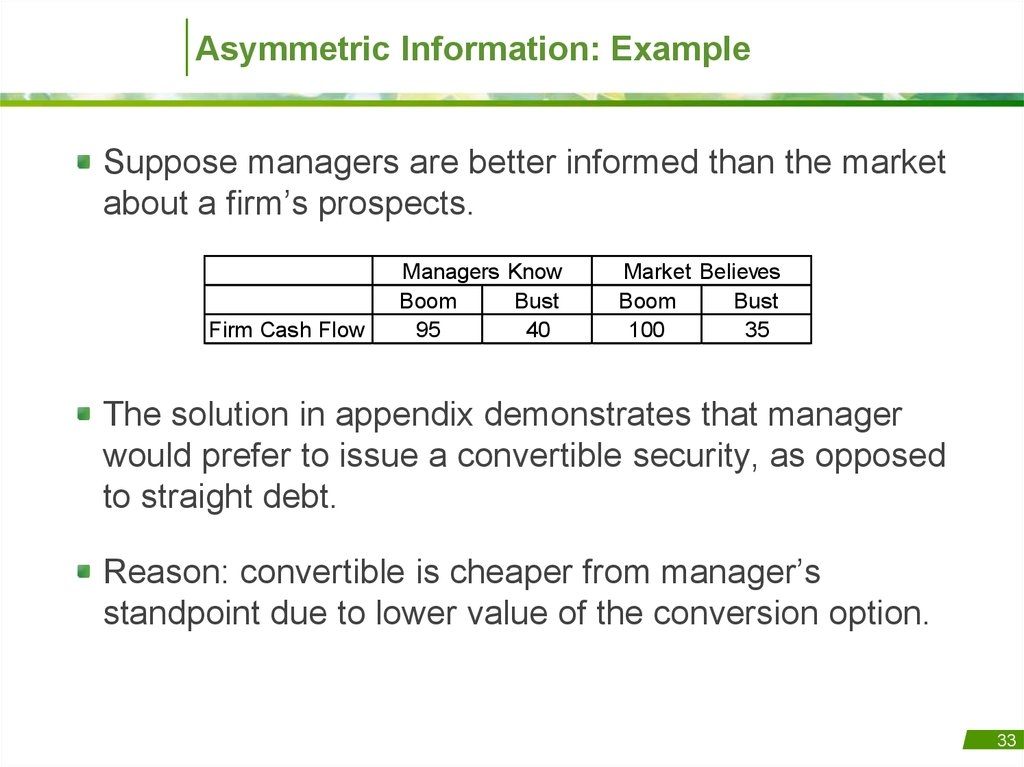 asymmetric information Under asymmetric information, the buyers don&t have the same information as the seller the from econ 206 at university of toronto.