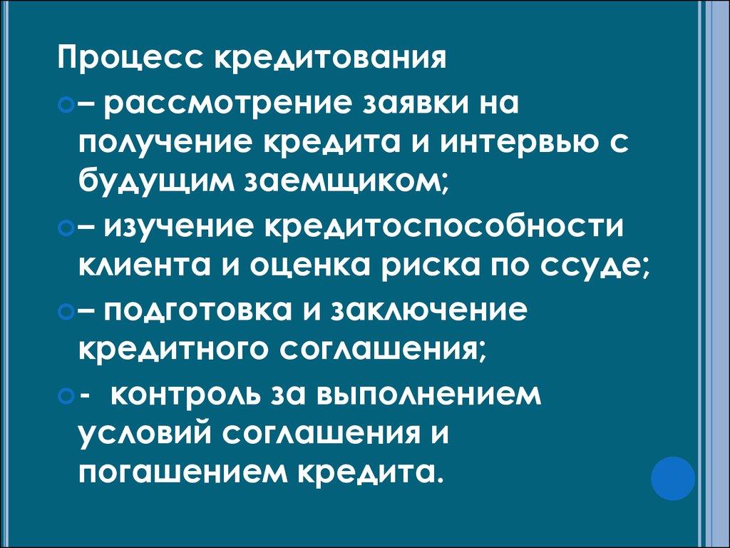 Условия в российских банках