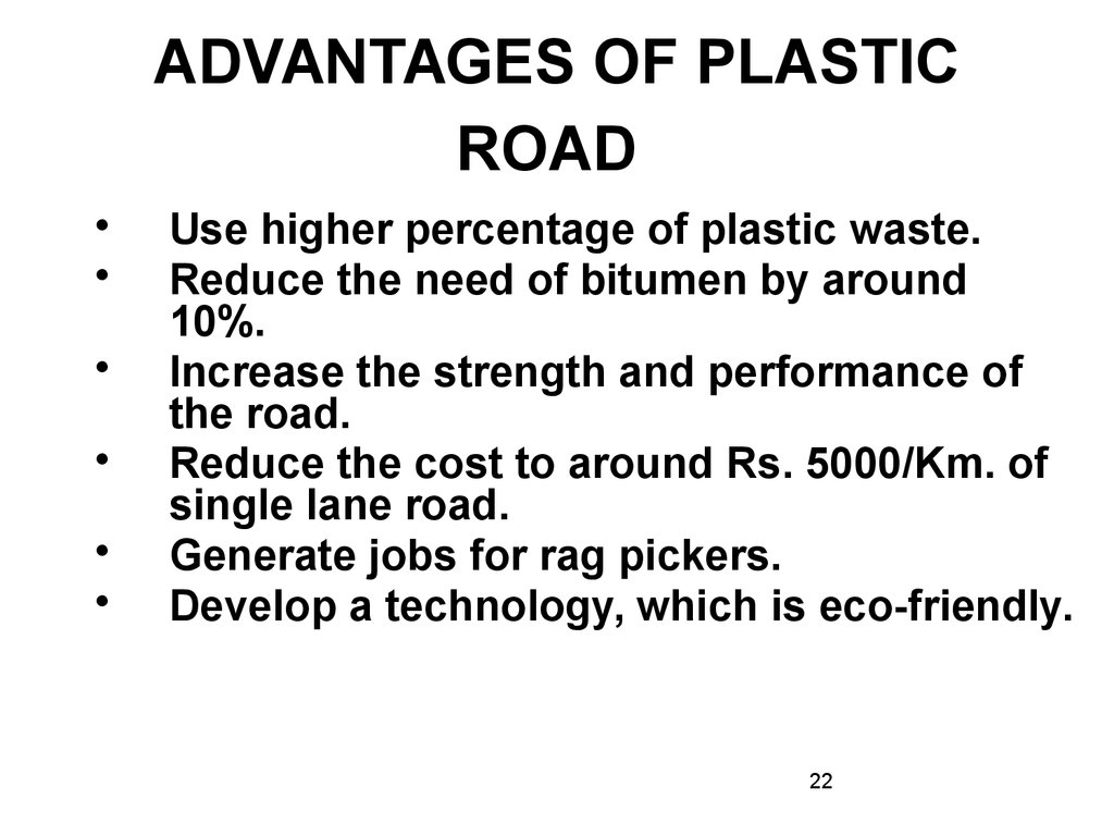 Use of plastic waste in road construction - online presentation