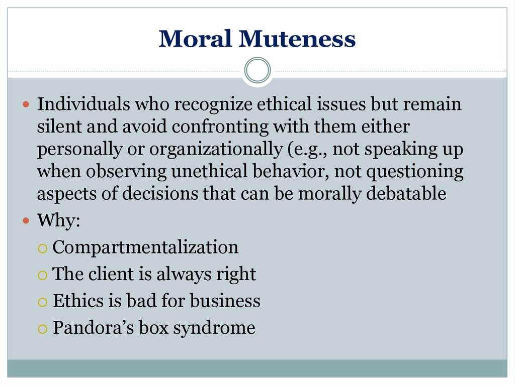 Consumers and business ethics - online presentation