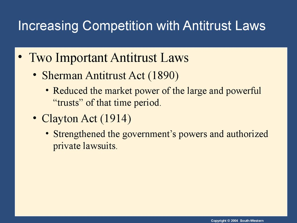 competition laws or antitrust laws The competition law training course describes the basic principles of competition law,  of competition law (or antitrust  competition laws.