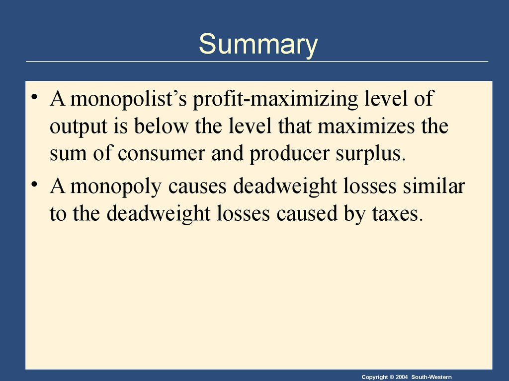 causes of monopoly