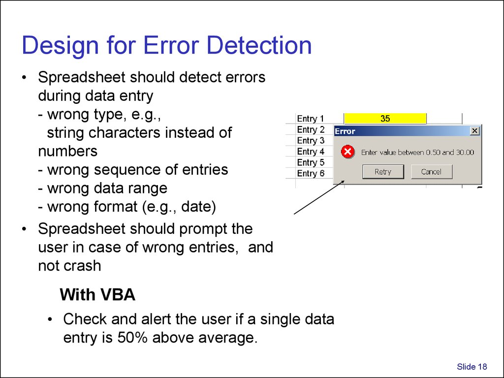 Design for Error Detection