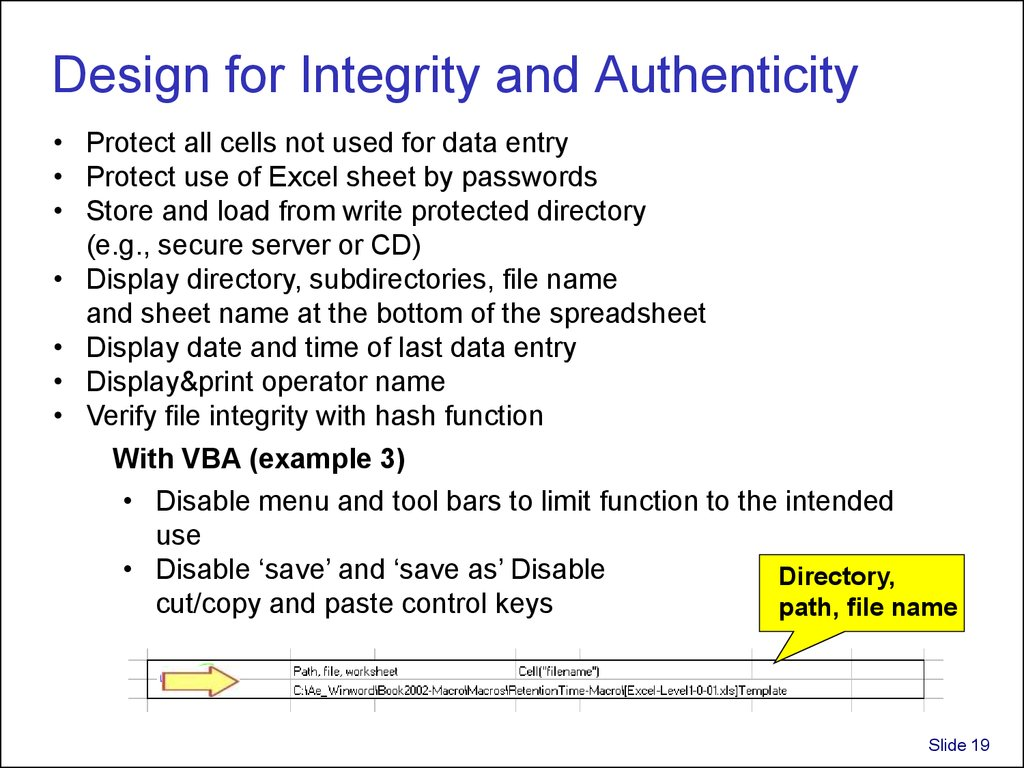 Design for Integrity and Authenticity