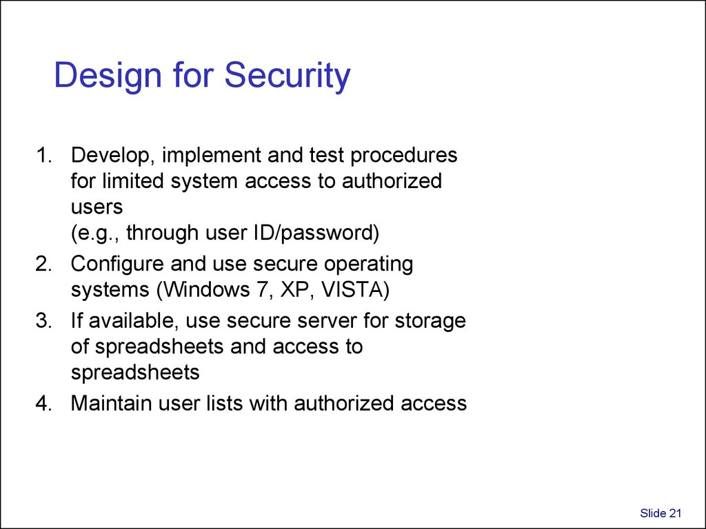 Design for Security