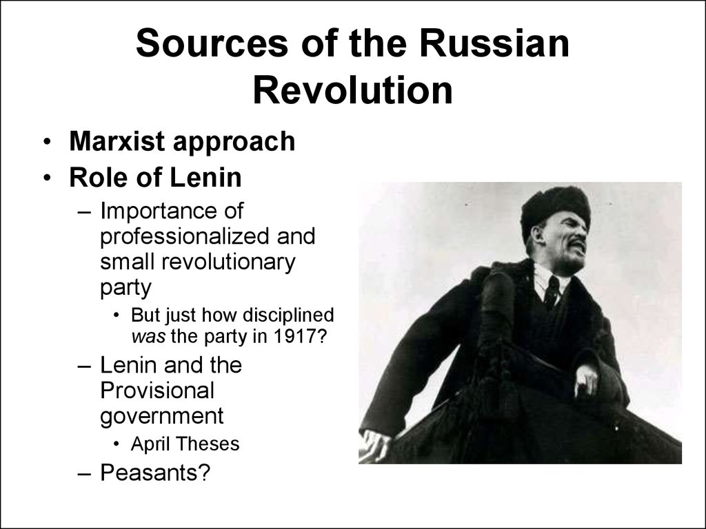 Sources of the Russian Revolution