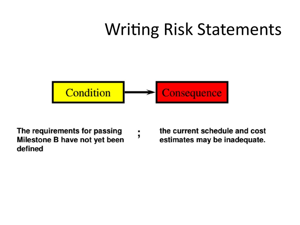 Writing Risk Statements