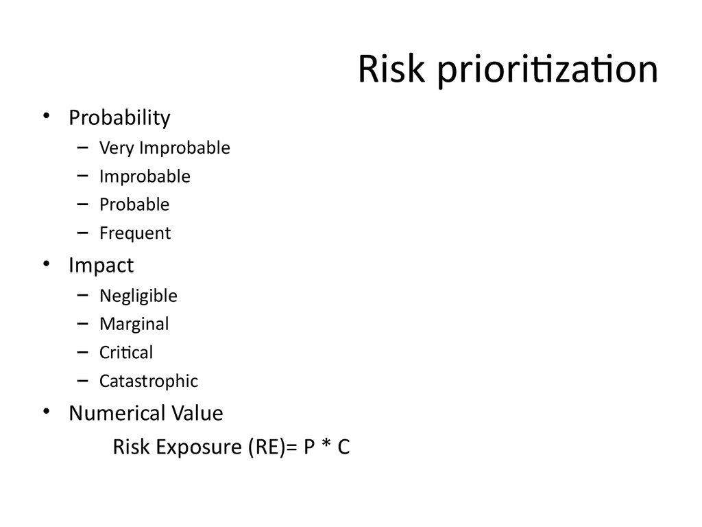 Risk prioritization