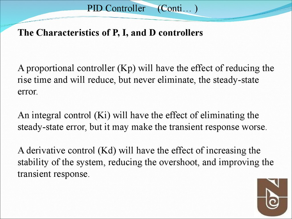 Review, PID controller - online presentation